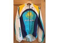 Trek Astana cycling team wind shower jacket