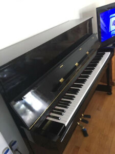 Yamaha cable Nelson upright piano with stools, and all books
