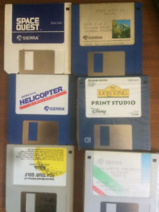 "lot of 1990s 3.5"" install disks"