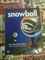 Blue SNOWBALL - Brushed Aluminum