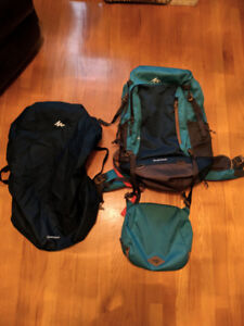 Backpack voyage Quechua 50L neuf