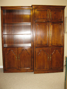 SOLID WOOD SECTIONAL ENTERTAINMENT / STORAGE UNIT
