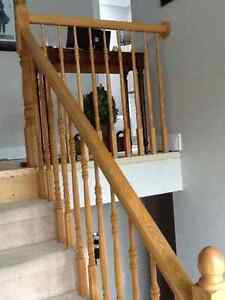 3 sets of rails, 1 hand rail and 32 spindles