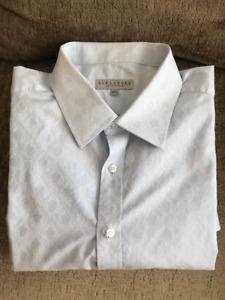 HARRY ROSEN 485$ SAVILLE ROW SZ 17.5 DRESS SHIRT MANS