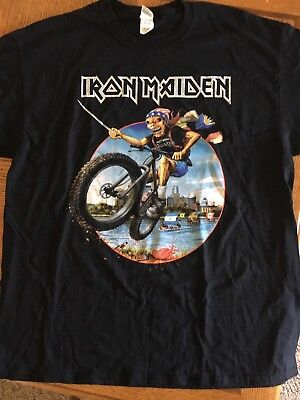 Iron Maiden 2017 Minneapolis Minnesota XL Event Shirt Tour Book Of Souls