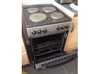 Freestanding Electric Cooker 50cm oven hobs black silver