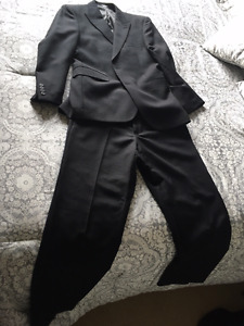 Men's Suit - Black Pinstripe