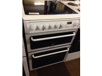 60CM FAN ASSISTED HOTPOINT DOUBLE OVEN ELECTRIC COOKER6307