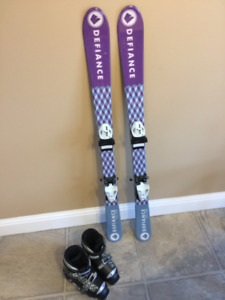 Youth skis and boots for sale