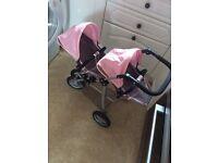 Dolls pram baby born twin jogger