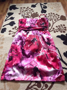 Silky floral prom type dress