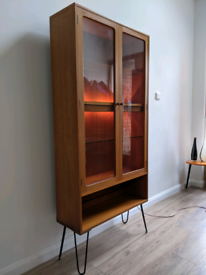 Mid century G Plan Fresco display cabinet shelving unit vintage retro