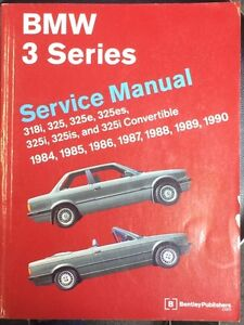BMW 325 E30 service manual by Bentley