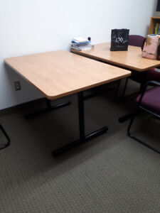 Office conference tables X 2, office chairs X 6. OBO