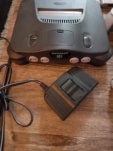 N64 with controllers and 6 games