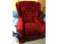 Wingback chair for upcycling