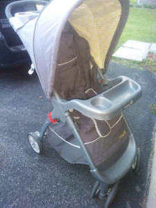 Stroller with car seat, swing and nursing pillow