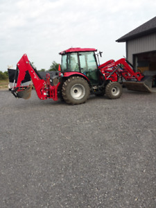 Madindra 2555 tractor/ backhoe 4x4 with cab fully loaded