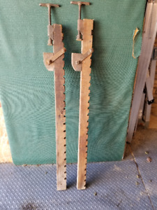 2 Large Antique Wooden Clamps