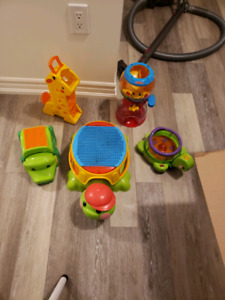 A tone of peek a boo blocks and balls with accessories