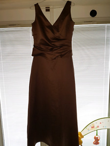 Ladies size 12 beautiful chocolate gown