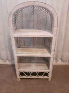 wicker 3 shelf stand