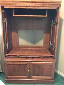 TV/Utility Oak Cabinet for Sale $25