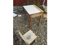Free children's study table/chair