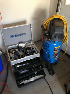Air Compressor and Chest of Air Tools Package