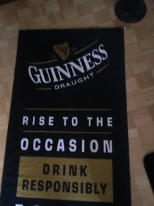 7 foot Huge Guinness beer banner flag great for man cave or bar