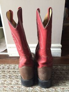 Ladies leather old west cowboy boots Stratford Kitchener Area image 3