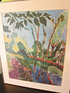 Matisse print professionally matted and framed