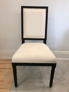 Restoration Hardware - Black Vintage French Square Side Chair