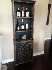 3 wooden shelfs/cabinets - shabby chic black - rustic look