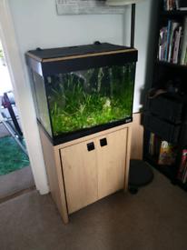 Fluval 90 planted tropical aquarium & stand