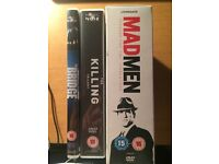 Mad Men, The Killing and The Bridge DVDs