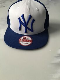 New York NY Yankees Baseball SnapBack Cap Blue White