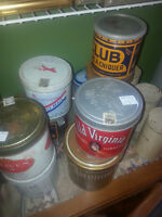 OLD  EMPTY TOBACCO TINS AND CIGAR BOXES