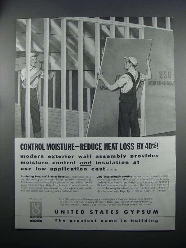1954 United States Gypsum Rocklath & Sheathing Ad