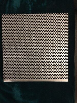 Two Perforated Stainless Steel 4 X 8 332 Inch Hole 20 Gauge Free Shipping