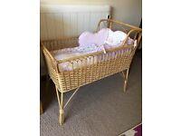 Vintage Wicker Crib