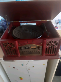 Retro Record and tape player