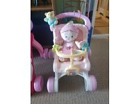 Vtech baby walker pushchair and doll