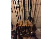 JOBLOT OF FISHING RODS SEA SPIN COARSE SALMON PIKE TROUT CARP FROM JUST £10!