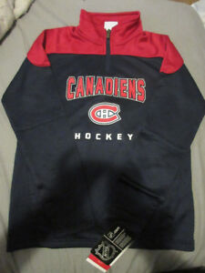 BOYS BNWT NHL MONTREAL CANADIENS LONG SLEEVE SWEATER  10-12