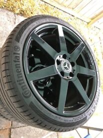 "Genuine 18"" Mercedes AMG Alloys &Tyres"