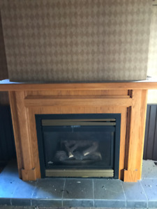 Propane Fireplaces with wood surround