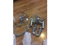 Bath & basin tap set