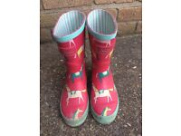 Joules size 13 wellington boots