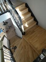 Hardwood from 1.50sqf  and laminate 1.20sqf installation